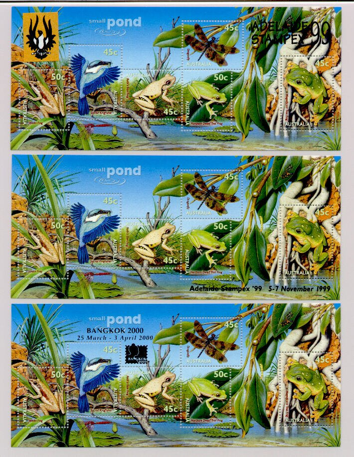 3 overprints on the 1999 Small Pond