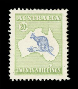1911 Kangaroo and Map 20 Shilling essay