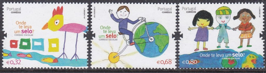 Stamp of Portugal 2011 Patrimonio Ambiental Stamps designed by children for World Post Day in the National Reading Plan.