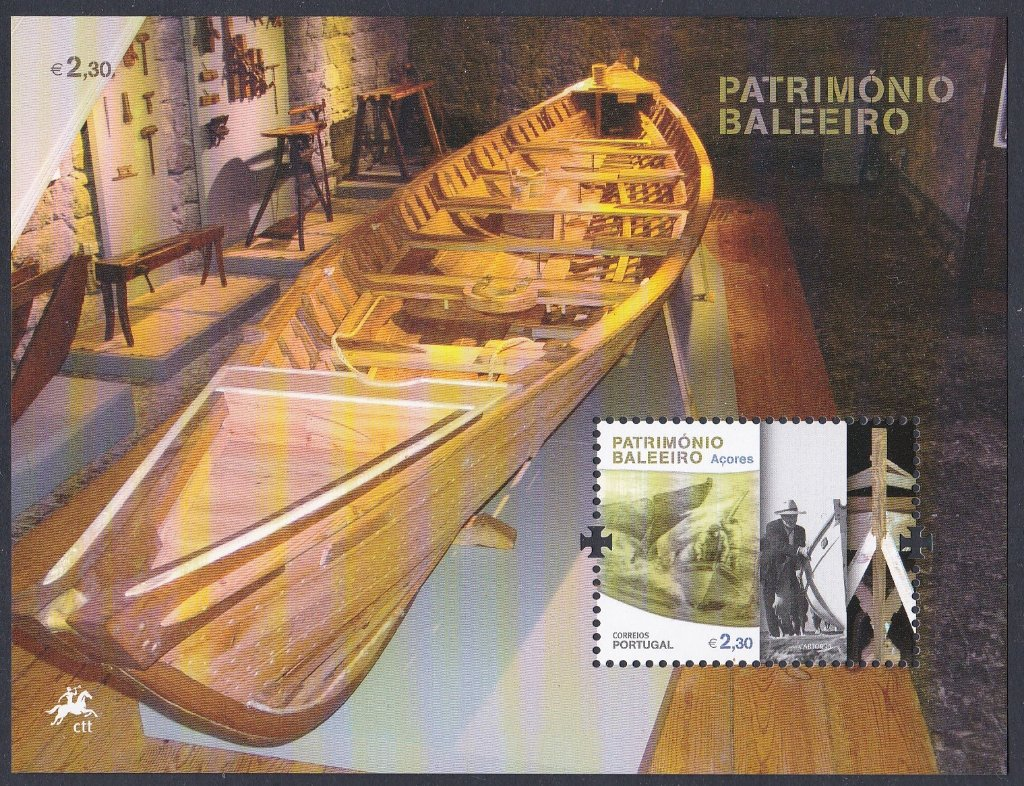 Stamp of Portugal 2011 Patrimonio Ambiebntal/Baleerio Dos Acores, Miniature Sheet of a former whaling boat.