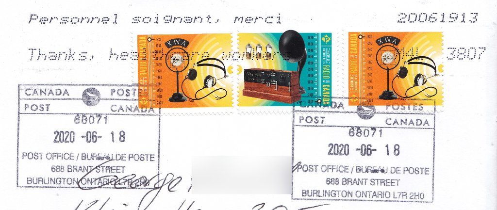 Stamps: History of Radio in Canada, issued May 20, 2020