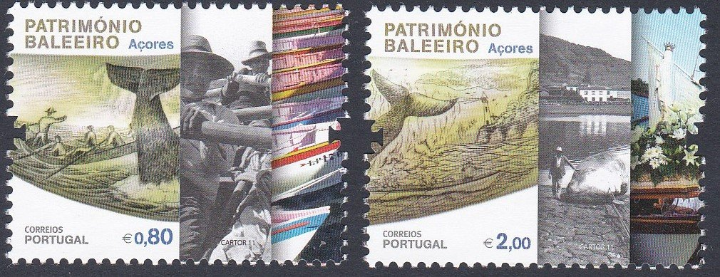 Stamp of Portugal 2011 Patrimonio Ambiental/Baleerio Dos Acores, Whaling History of The Azores.