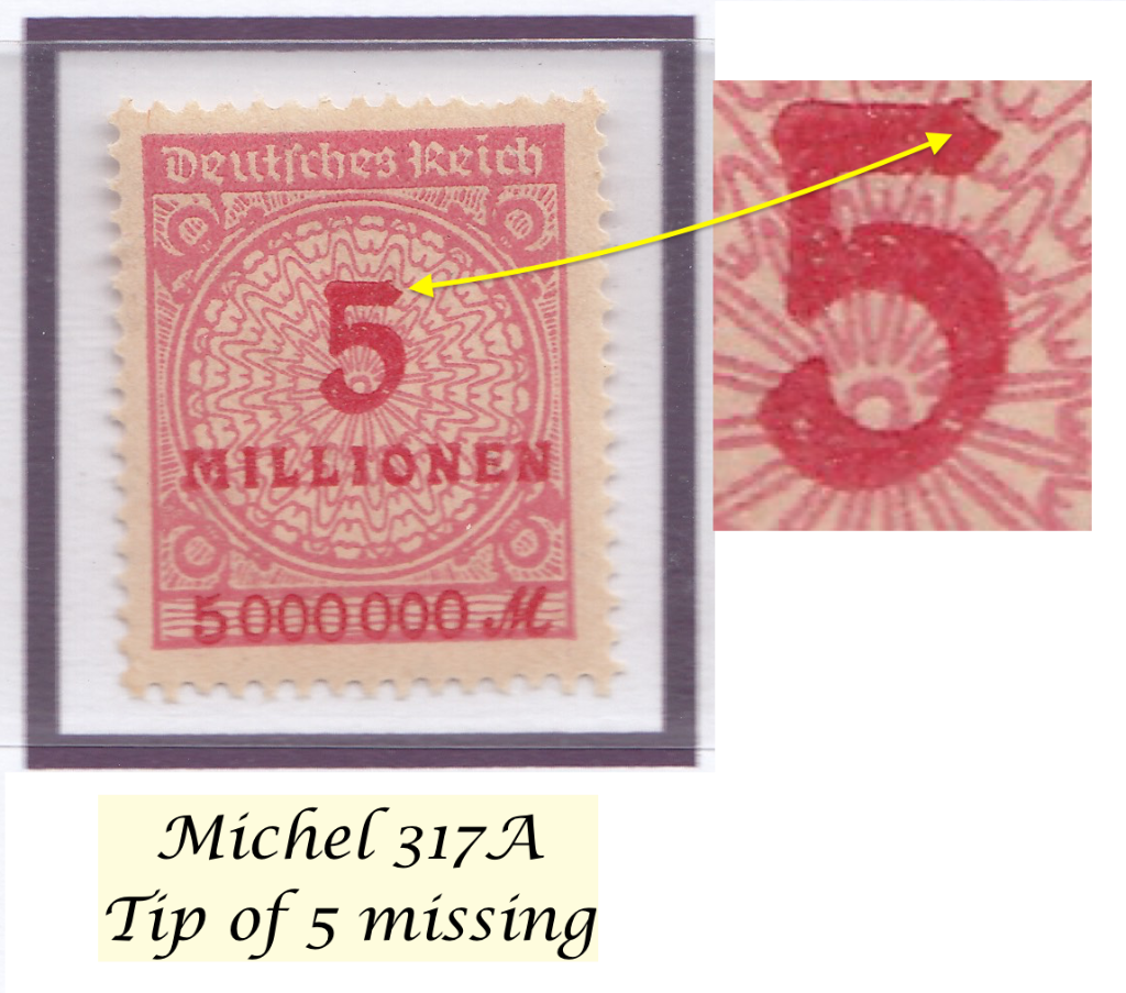 Mi.317A with tip of ´5`missing