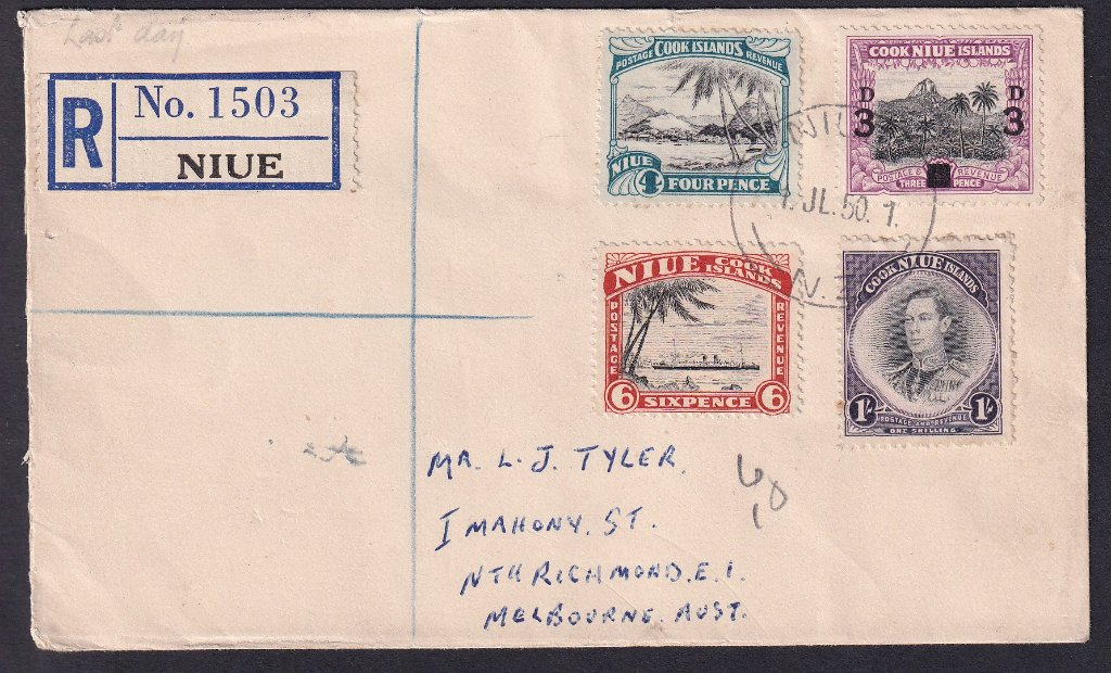 Pair of last day covers prepared by Mr L J Tyler of North Richmond, Melbourne, Australia.