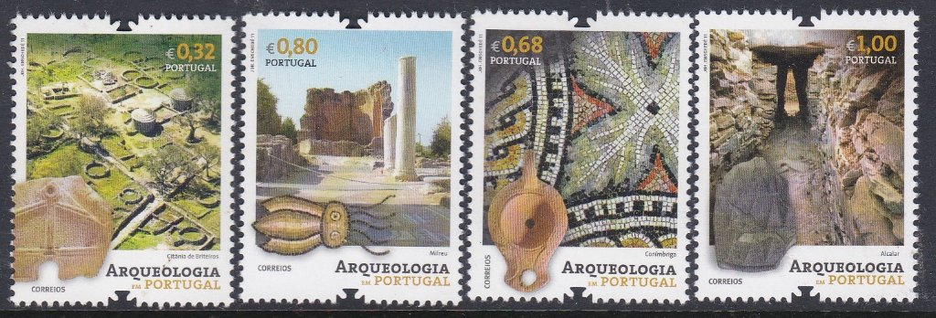 "Stamp of Portugal 2011 Patrimonio Historico Arquelogia Em Portugal. Conimbrigia is known as ""ThePortuguese Pompeii. Sadly, i of a set of 5 stamps has gone walk about."