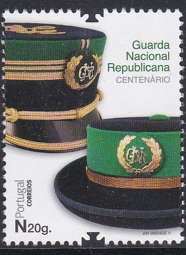 Stamp of Portugal 2011 Patrimonio Historico Centenary of the National Republican Guard.