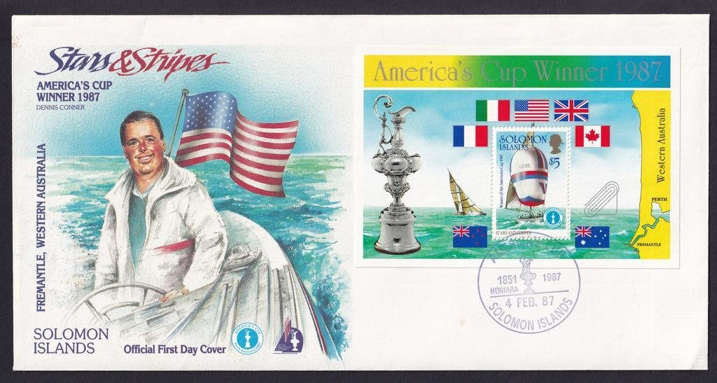 Solomon Islands fdc 1987 - Americas Cup 1B.jpg
