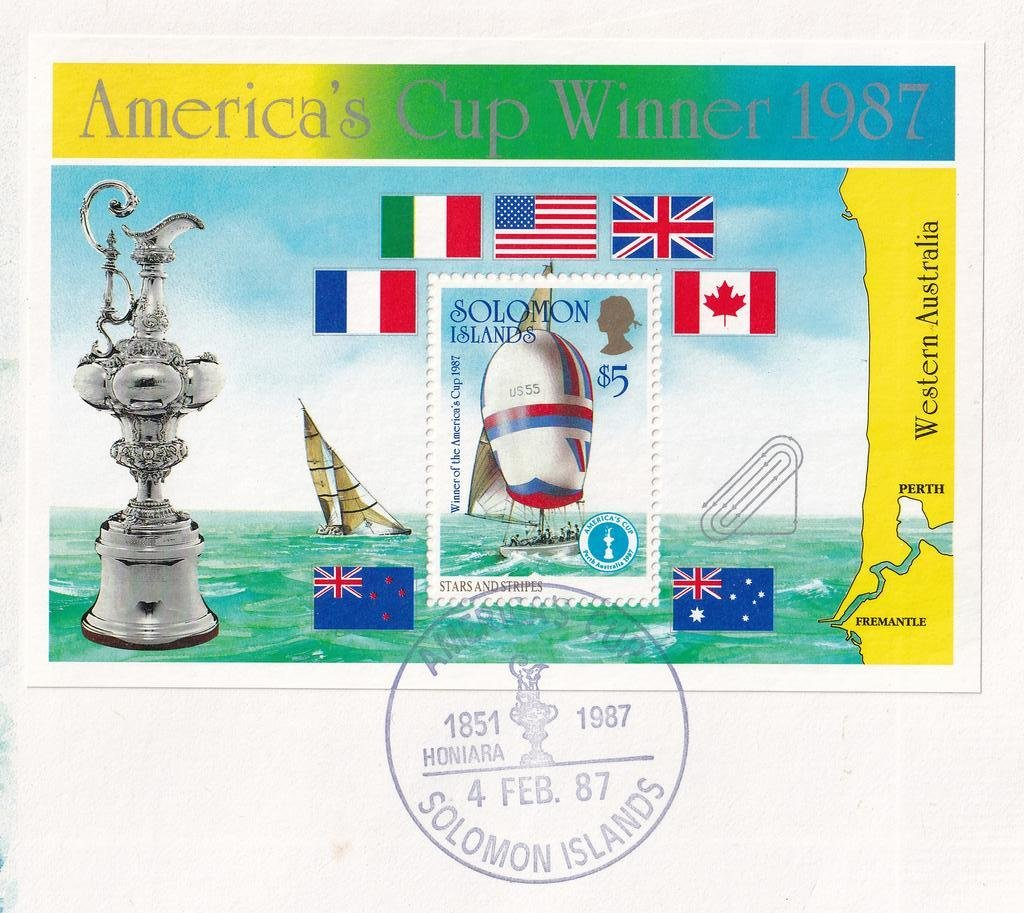 Solomon Islands fdc 1987 - Americas Cup 2B.jpg