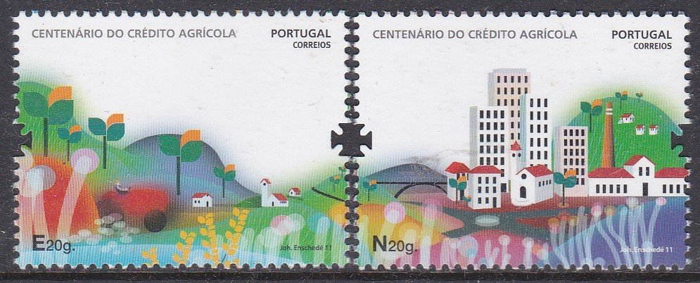 Stamp of Portugal 2011 Patrimonio Historico. Centenario do Credito Agricola  Centenary of the Credito Agricola, an agricultural savings and loans bank.