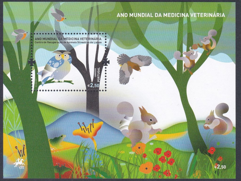 Stamp of Portugal 2011 Patrimonio Global Ano Mundial Da Medicina Vetinariia World Day of Vetinary Medicine. Another Lovely Miniature Sheet.
