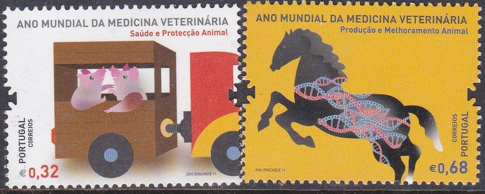 Stamp of Portugal 2011 Patrimonio Global. World Day of Vetinary Medicine.