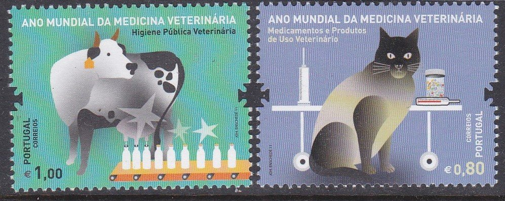 Stamp of Portugal 2011 Patrimonio Global. World Day of Veninary Medicine.