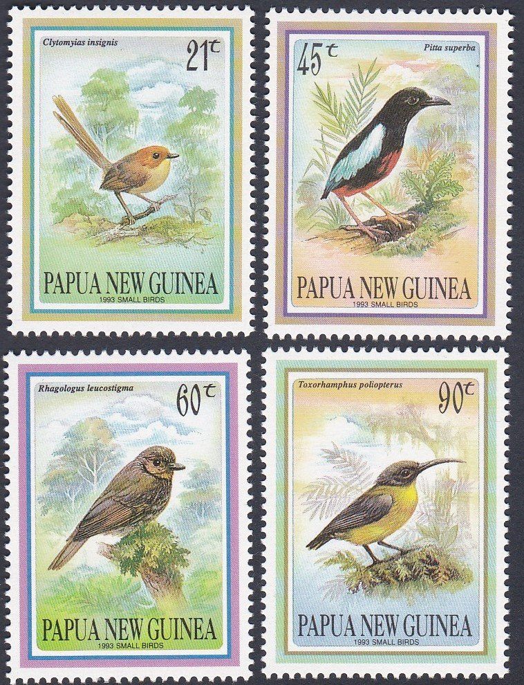 Stamp of Papua New Guinea !993 Small Birds Mint.