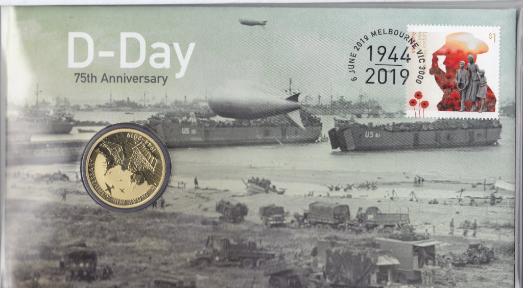 Australia, PNC issued to commemorate the 75th anniversary of D-Day