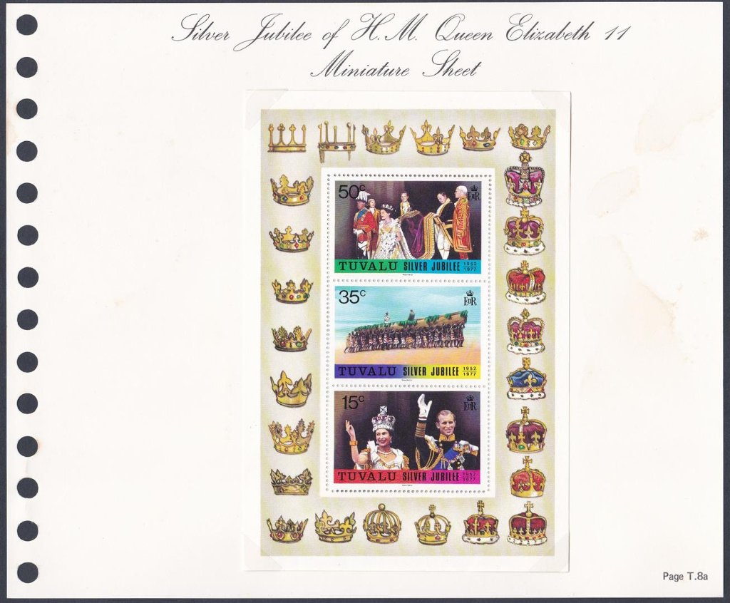 Stamps of Tuvalu. 1977. Silver Jubilee M/S.  SG53.