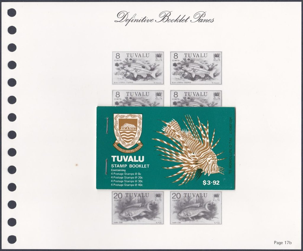 Stamps of Tuvalu. 1979. Fish definitives. Booklet.