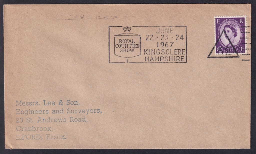 Royal Counties Show<br />June 22-23-24 1967<br />Kingsclere Hampshire<br />Postmarked Basingstoke, 6th July 1966