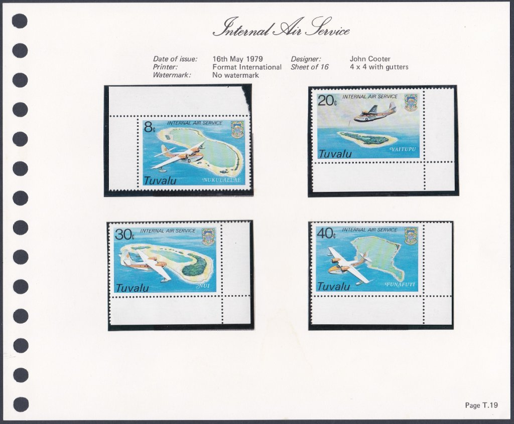 Stamps of Tuvalu. 1979. Internal Air Service. Set of four. SG127-130.