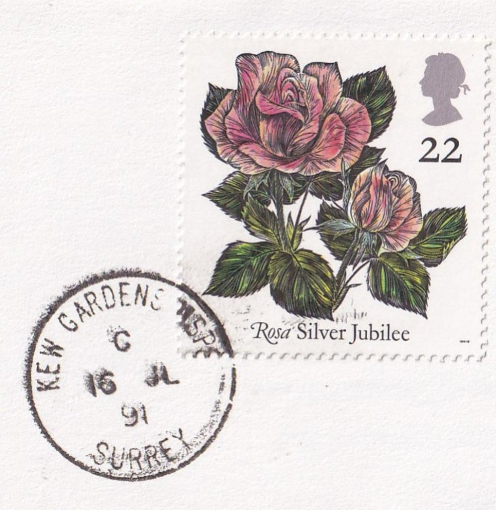 Postmarked Kew Gardens MSPO Surrey 16th July 1991