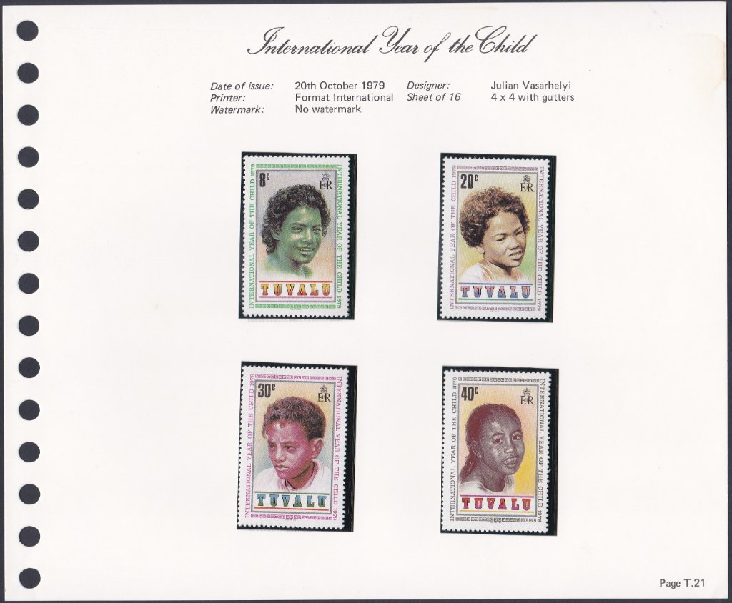 Stamps of Tuvalu. 1979. International Year of the Child. Set of four. SG135-138.