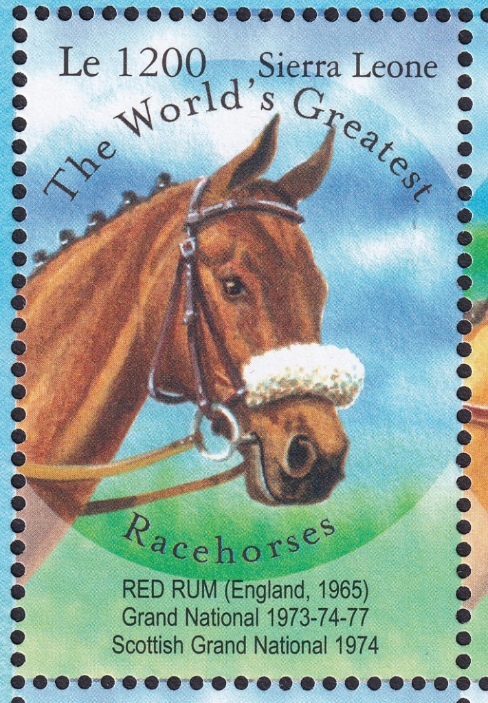 Sierra Leone - Red Rum stamp issued 27th February 2001