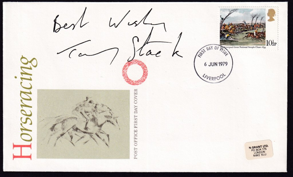 Signed by Tommy Stack who rode Red Rum to victory in the Aintree Grand Nation in 1977 & was second placed on him in 1976.