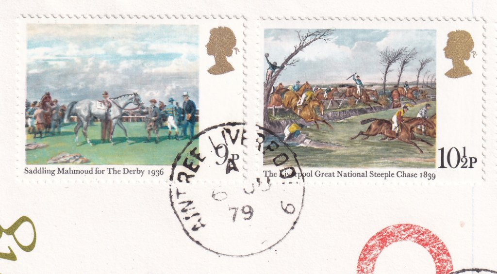 Postmarked Aintree Liverpool 6th June 1979