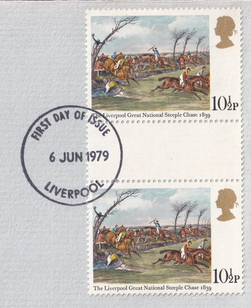 10½p gutter pair stamp fdc - Limited Edition number 1939 of 4000