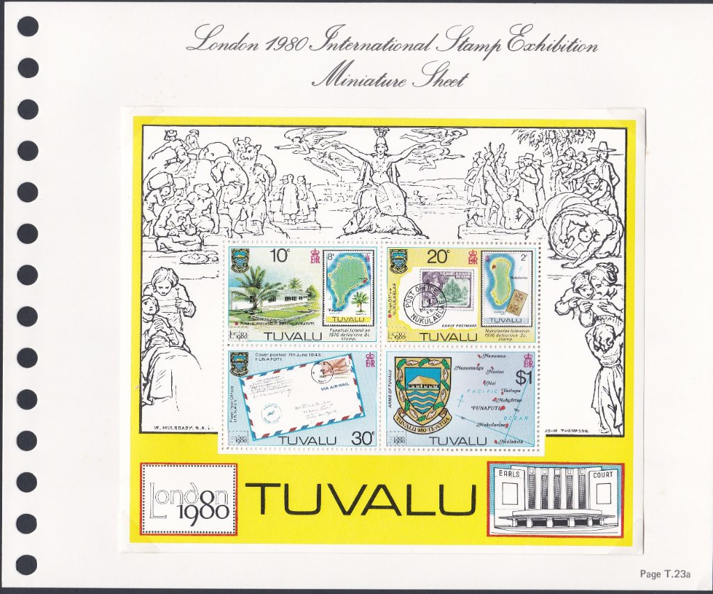 Stamps of Tuvalu. 1980. London International Stamp Exhibition. Miniature Sheet. SG147.