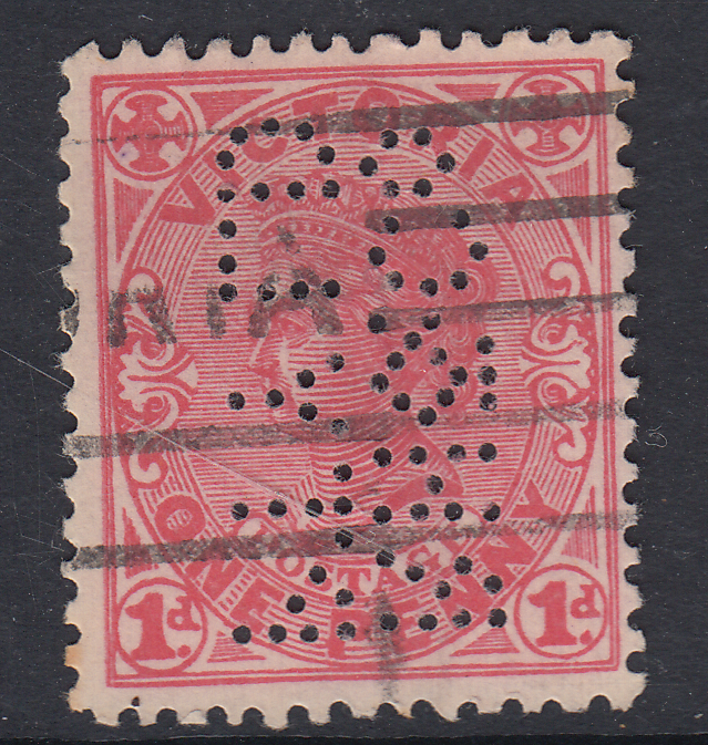 RH&COPTYLD.1 PERFIN front of stamp