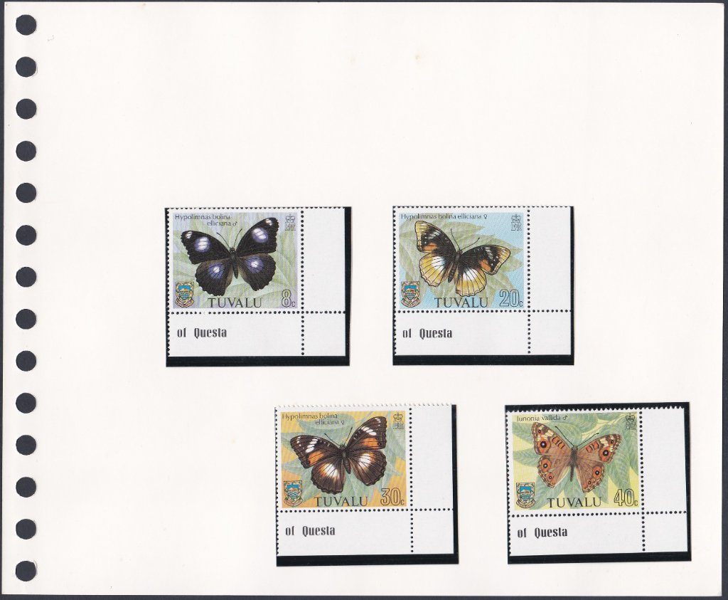 Stamps of Tuvalu. 1981. Butterflies. Set of four. SG158-161.