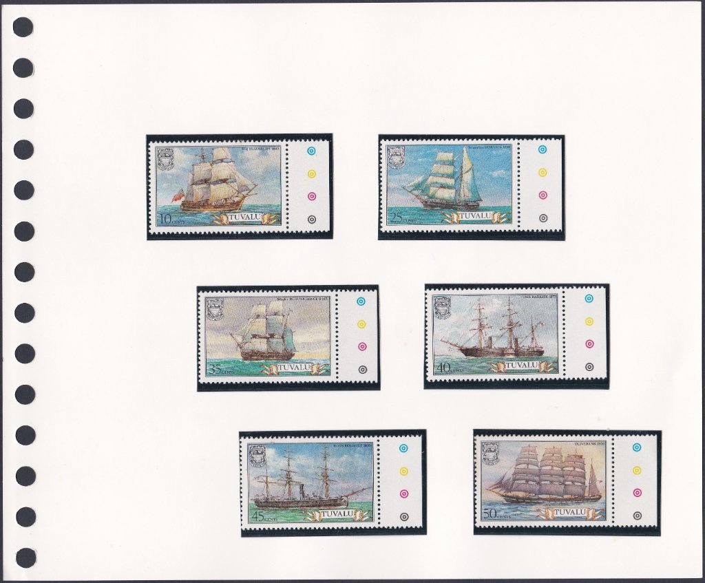 Stamps of Tuvalu. 1981. Ships. 1st series. Set of six. SG162-167.