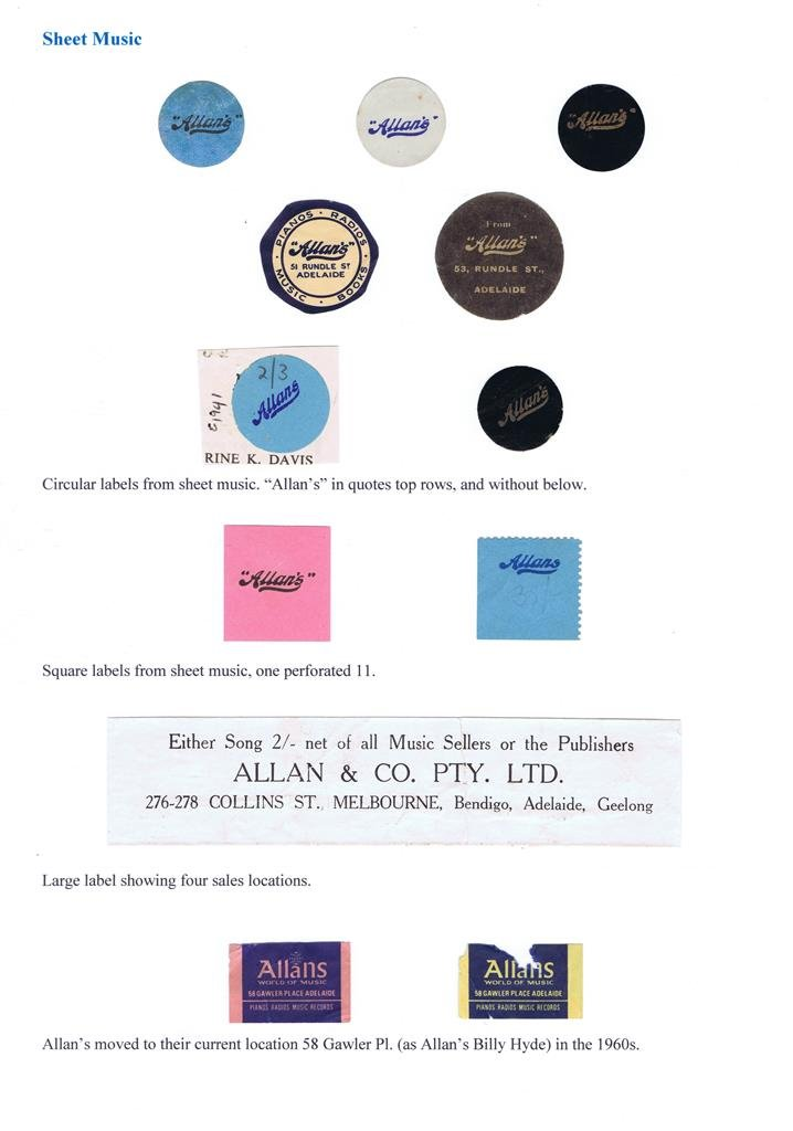 Allan & Co Advertising labels 2