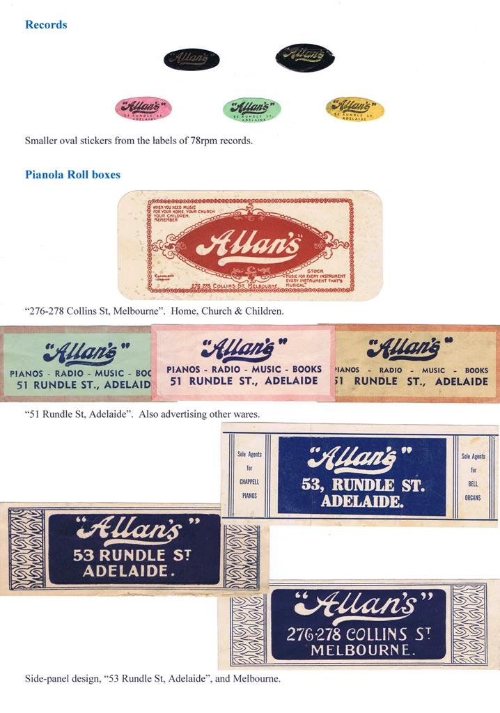 Allan & Co Advertising labels 3