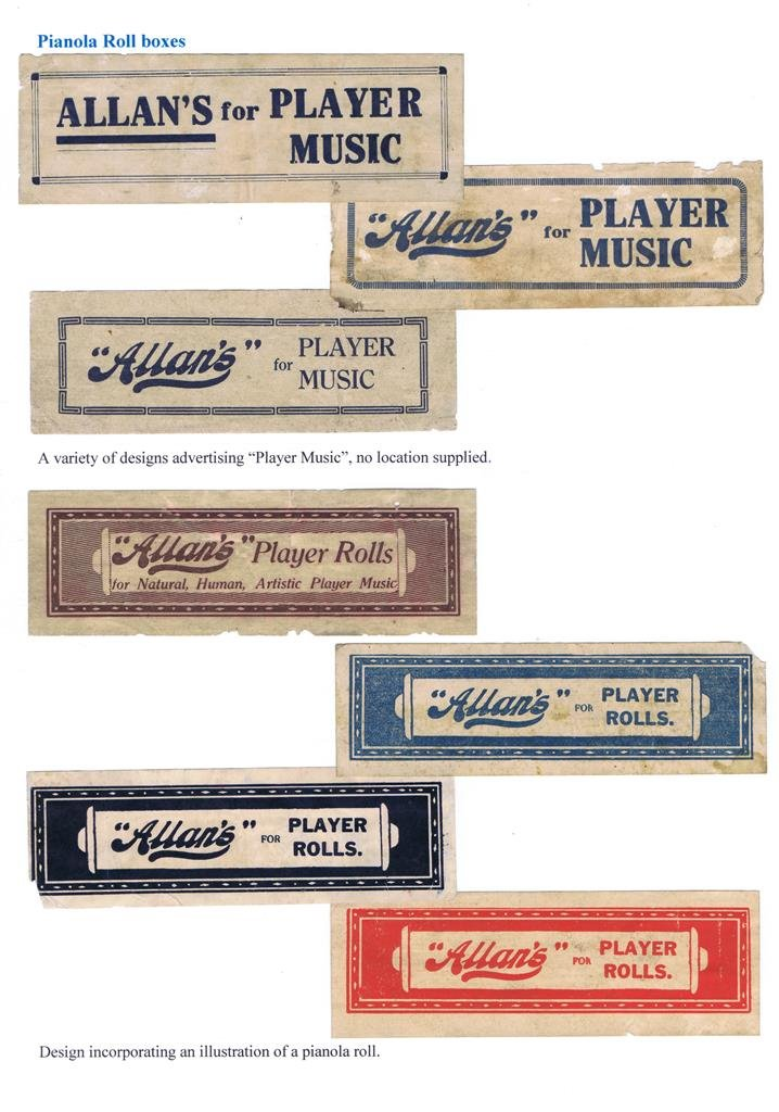 Allan & Co Advertising labels 4