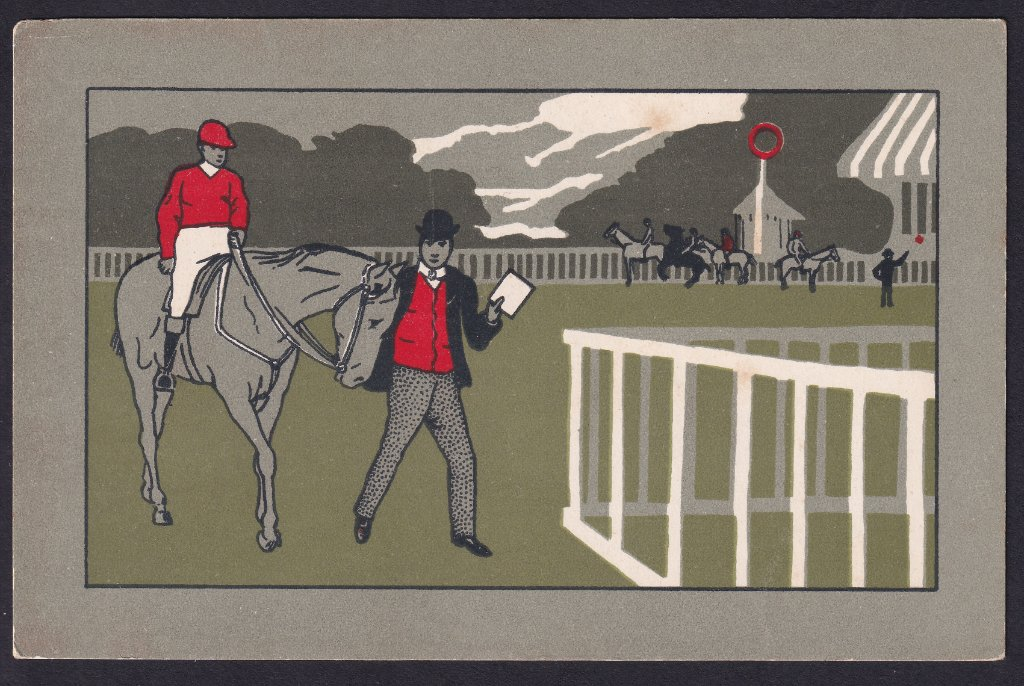 Horse Racing postcard from the Ellanbee Sporting Series