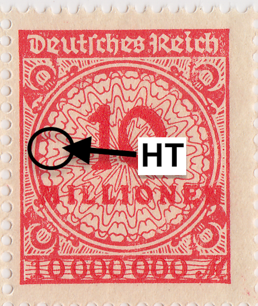Mi. 318 HT flaw. German postage stamp.