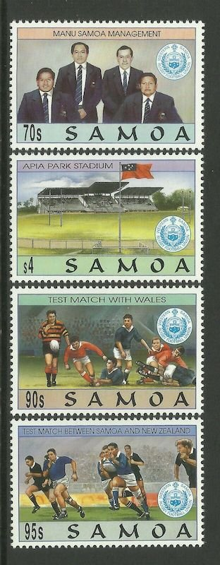 Samoa 1994, Manu Samoa Rugby Team, set of 4