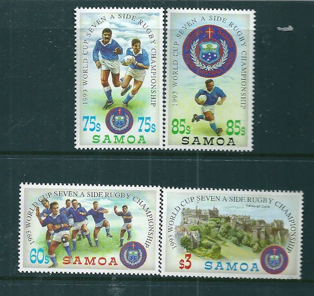 Samoa, 1993, World Cup Seven-a-side Rugby, set of four, MUH