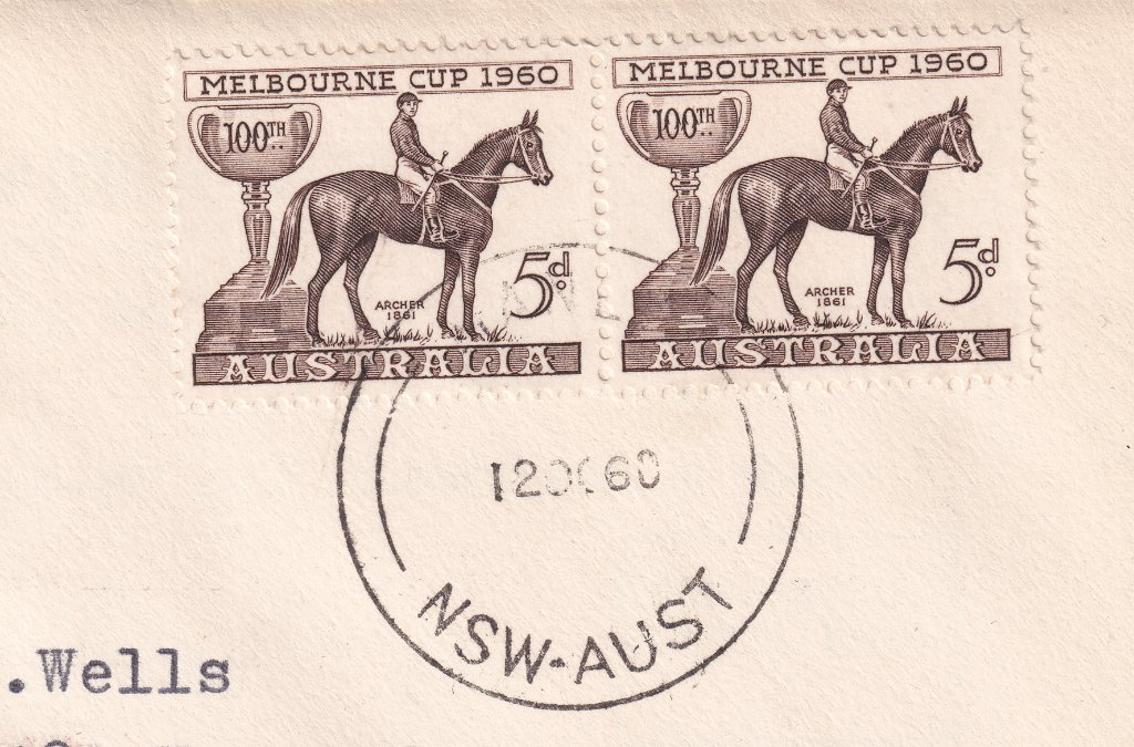 Postmarked with Manly cds on fdi 12th October 1960
