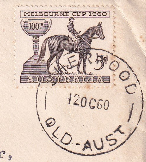 Aust fdc 1960 - Melbourne Cup Sherwood 3.jpg