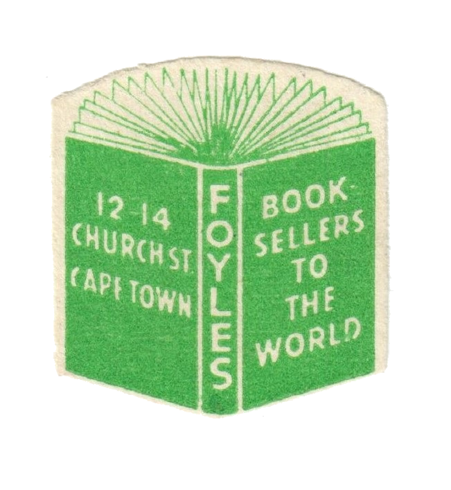 South Africa, Capetown, Foyles, bookseller label.png
