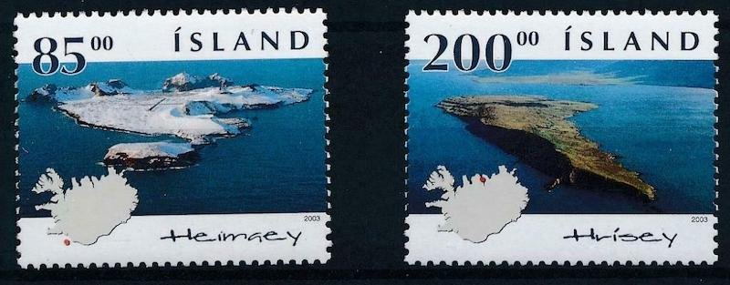 Iceland, 2003: two volcanic islands, and a map of Iceland