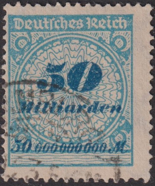 Germany 1923 inflation stamp, 50 Milliarden, postmarked.