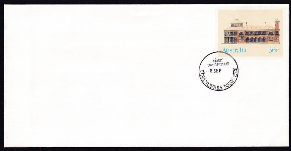Customs House Townsville, Historic Buildings pse, cancelled Unanderra fdi postmark  - 8th September(1986) - missing year from dateline