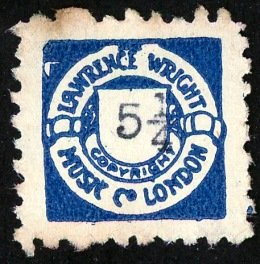Lawrence Wright blue 5 1⁄4d stamp
