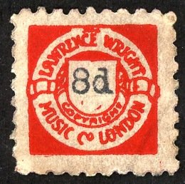 Lawrence Wright red 8d stamp