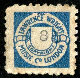 Lawrence Wright blue 8d stamp