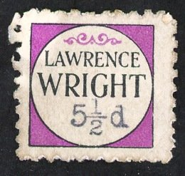 Lawrence Wright purple 5 1⁄2d stamp