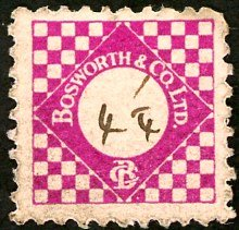 Bosworth & Co. stamp 4 1/4d